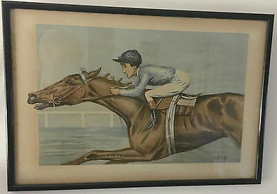 chromolithograph from Vanity Fair, entitled An American Jockey, Todd Sloan