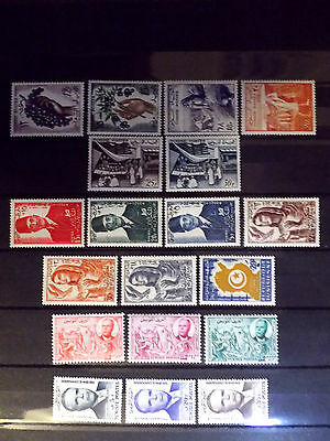 Small mint stamps collection of Tunisia as scan.