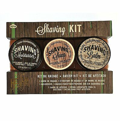 Hello Handsome Shaving Kit, Moisturiser, Soap and Balm Men's Skincare