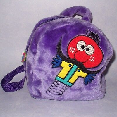 "The Magic Roundabout 10"" Zebedee Purple Plush Child's Backpack Rucksack Bag Vgc"