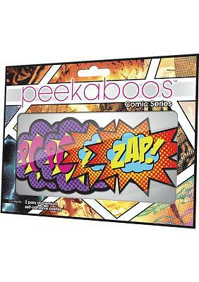 Peekaboo Pasties Pow! & Zap! Comic Superhero Speech Balloons 2 Pair PK332