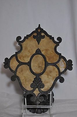 Antique Spanish Revival Arts and Crafts Wall Sconce Light Mica shade Solid Brass