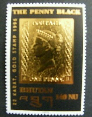 Timbre or BHUTAN BHOUTAN Penny Black 1996
