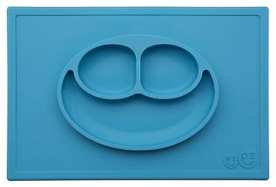 ezpz Happy Mat - One-piece silicone placemat + plate (Blue)