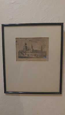 19th c. Aikman after Jamieson Aberdeen Kings College engraving framed