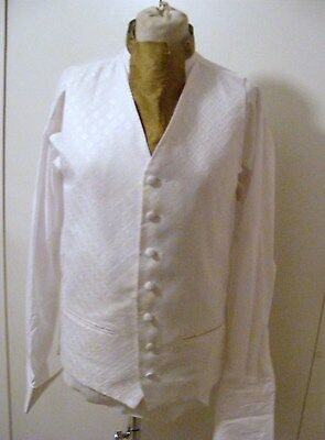 Quality White wedding waistcoat for groom best man usher various sizes free p&p