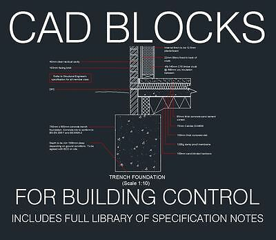 Typical CAD Details for Building Control, Building Regulations, Planning Apps
