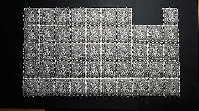 Switzerland 5 Rp Helvetia Stamps. Sheet of mint stamps.