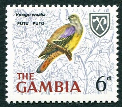 GAMBIA 1966 6d multicoloured SG239 mint MNH FG Birds #W7