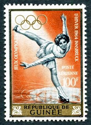 GUINEA 1964 50f SG438 mint MH FG Winter Olympic Games Innsbruck #W9