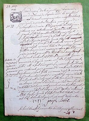 French Revolution- 28  Nivôse  An 12 - Notarized document of 4 pages ( Brittany)