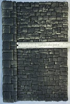 STONE WALL ROUGH CUT BLOCK W/BUTTRESS O or G SCALE ATHERTON SCENICS (#6160)