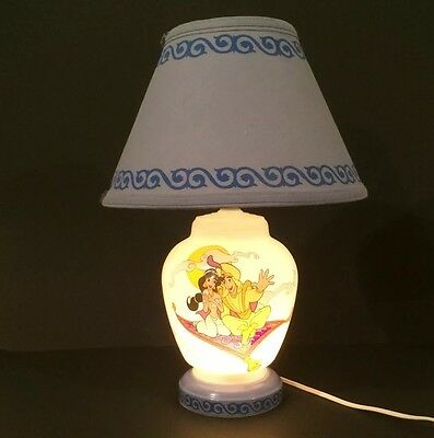 Vtg Disney Aladdin Movie Children's Lamp Kids Bedroom Night Light Princess Genie
