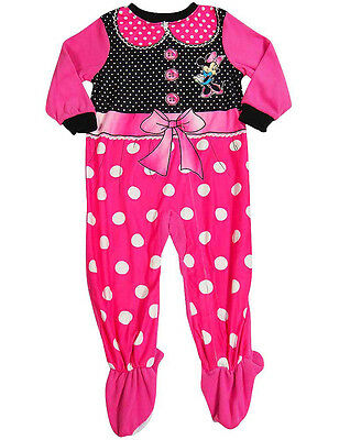 Baby Infant Toddler Girls Minnie Mouse Footed One Piece Blanket Sleeper  Pajama 3a1ae82f7