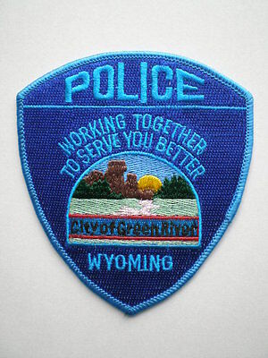 Wyoming City of Green River Police patch WY