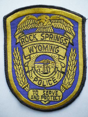 Wyoming Rock Springs Police patch WY