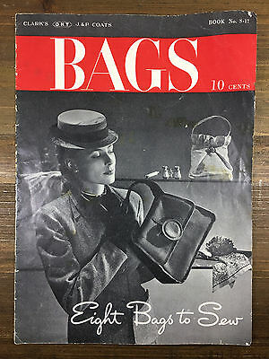 Eight Bags to Sew Vintage 1945 Spool Cotton Sewing Pattern Book No. S-17