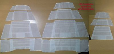 USS Constitution - set of 20 Studding sails for model by Revell, 1:96