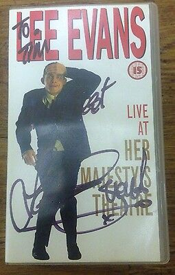 Lee Evans Signed VHS - Autographed, comedy, stand up, funny, rare, bargain