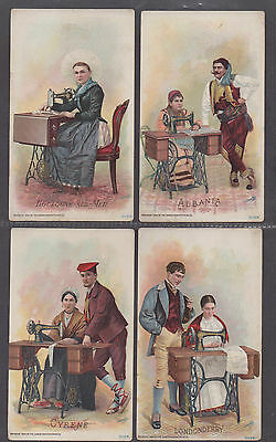 **Singer Sewing Machine Trading Cards, Lot of 8 Different, 1894