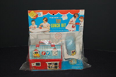 Vintage Fisher Price 1962 Red Barn Farm Lunchbox 549 Toy Lunch Kit In Pkg