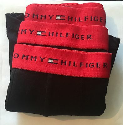 Tommy Hilfiger Men's Classic BLACK Underwear/Boxers/Trunks 3-Pack Boxer Gift