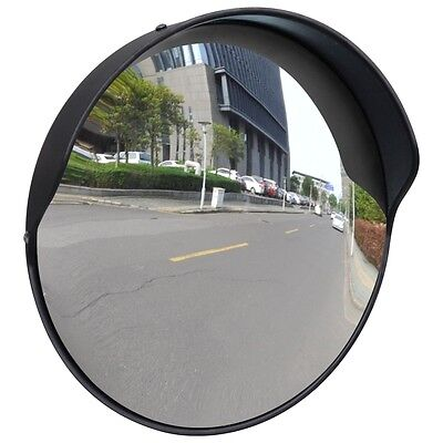 New Convex Traffic Mirror PC Plastic Black 30 cm Wide Angle Outdoor Blind Spots
