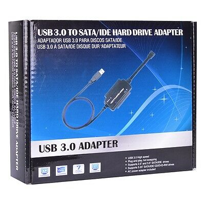 SuperSpeed USB 3.0 to SATA/IDE Hard Drive Adapter - Turn SATA/IDE Drive Into USB