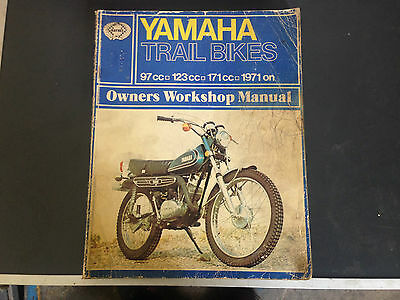 Yamaha Trail bikes 97, 123 + 171cc 1971 on Owners workshop Haynes manual