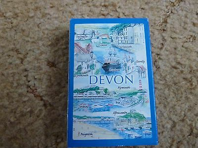 Collectors plastic coated playing cards Sights of Britain DEVON