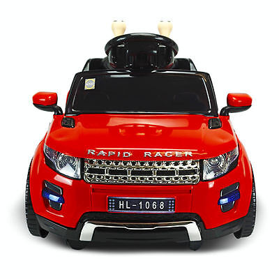 Brand New Kids Ride-On Toy Car 4Wd Battery/remote Operated White Usb Music Red