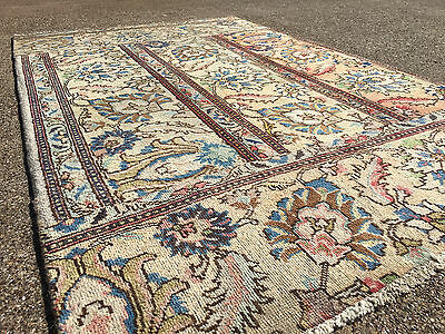 4x6 HAND KNOTTED WOVEN AREA RUG ANTIQUE PATCHWORK 4 x 6 WOOL turkish persian 3 5