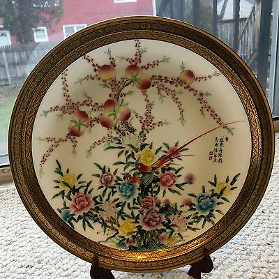 Beautiful China Chinese Flowers and Birds Famille Rose Porcelain Plate
