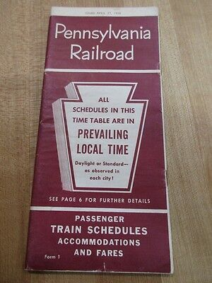 1958 Pennsylvanie Railroad Schedules & Time Tables  47 pages