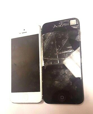 2 Lot Apple iPhone 5 A1428 At&t Locked For Parts Repair Used Wholesale As Is