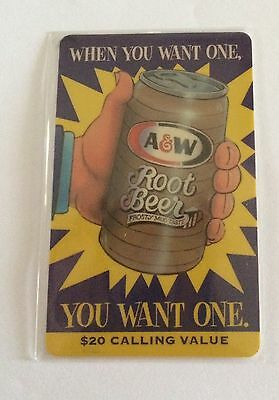 1995 A & W Root Beer Phone Card