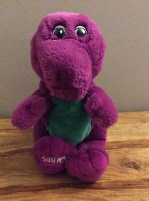 """Barney The Purple Dinosaur 13""""  Soft Toy Made By Lyons 1992"""