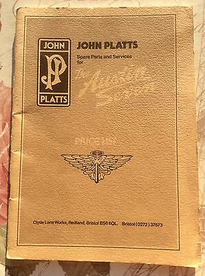 JOHN PLATTS Spare Parts & Services PRICE LIST for the AUSTIN SEVEN ~ 1980's