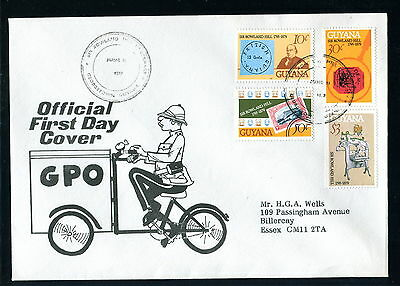 1979 Guyana FDC. Sir Rowland Hill Death Anniversary. First Day Cover. Bicycle