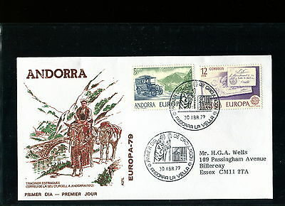1979 Andorra FDC. Europa. First Day Cover. CEPT