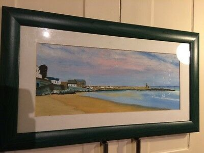 Painting Of New Quay Harbour, Wales.