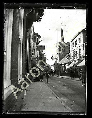 St George's street Canterbury Circa 1909 photograph in mount