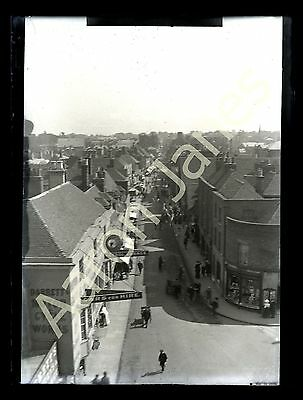 St Peter's Street Canterbury from The Westgate Circa 1909 photograph in mount