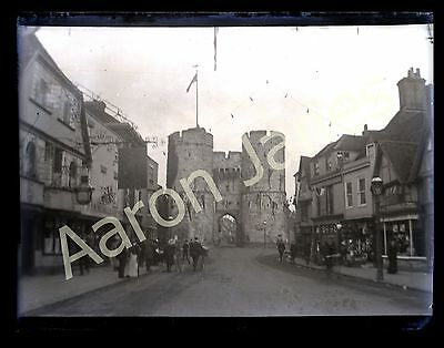 Westgate from St Dunstan's Street Canterbury Circa 1909 photograph in mount