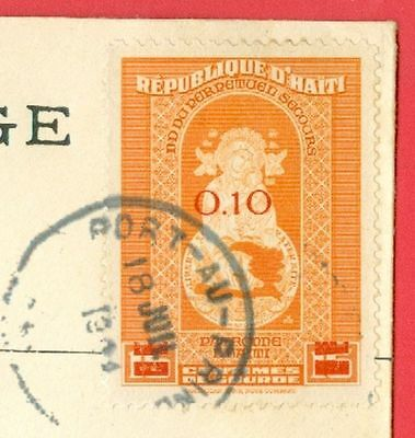 Haiti 10c Overprint stamp Solo used on Advertising cover to USA 1944
