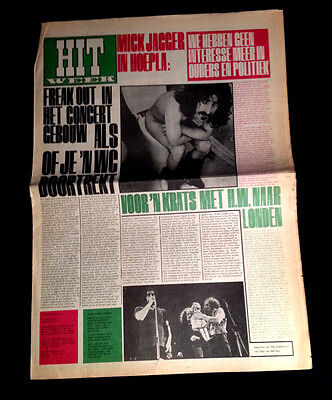 1967 Frank Zappa Famous Toilet Cover Mothers Concert Dutch Underground Newspaper