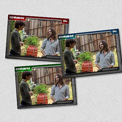 Topps Walking Dead Card Trader Go Getters 5 705 Maggie & Jesus Red Green Blue