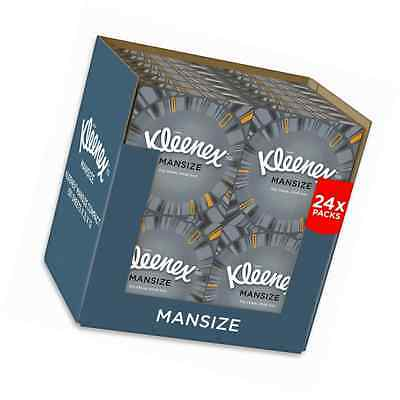 Kleenex Mansize Tissues, Compact Pack - 24 Box Pack (1200 Tissues Total)