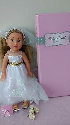 Chad Valley Designafriend doll with bride outfit, in box with NEW charm!