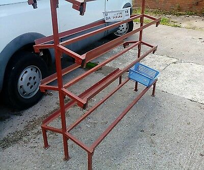 Heavy Duty Steel Stand Market Stall Display 5ft length Fits in car 4 Tier Aisle